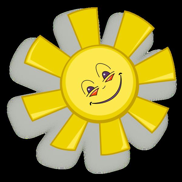 Happy sun vector drawing
