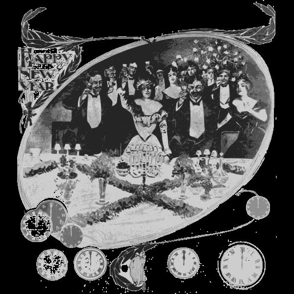 Happy New Year toast vector clip art