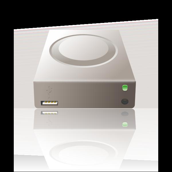 Vector image of external mass storage disk