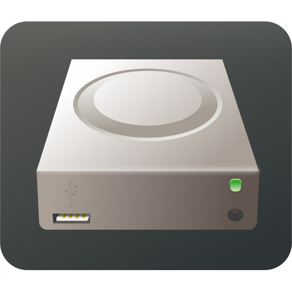 USB external media storage device vector image