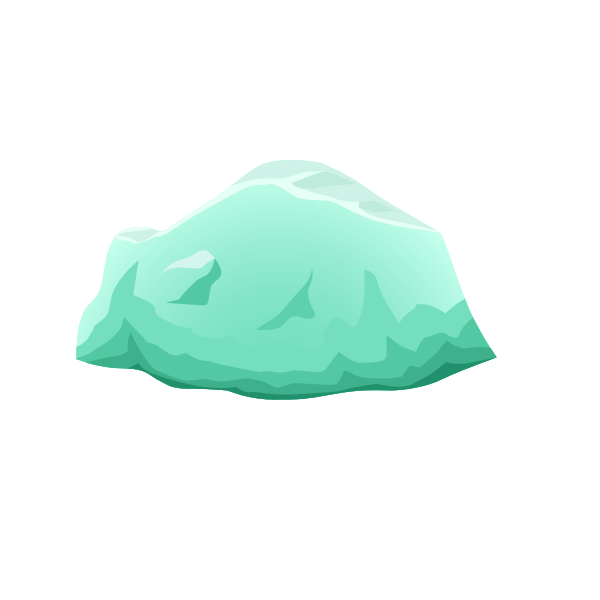 Beryl harvestable rock vector illustration
