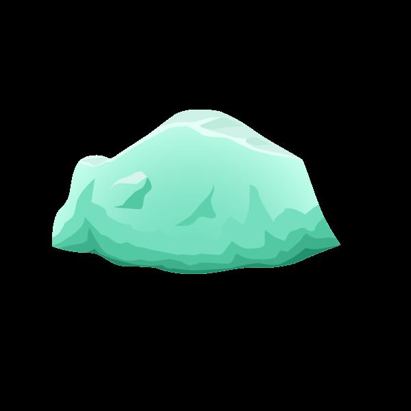 Beryl harvestable rock vector illustration