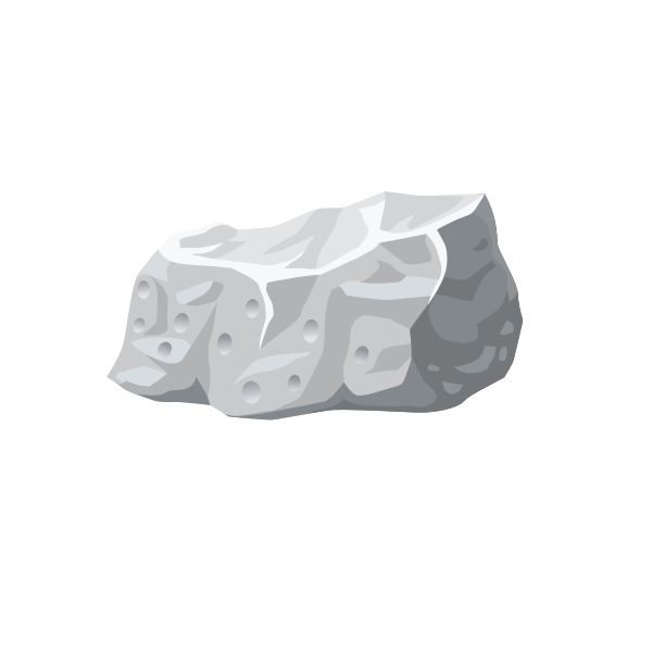 Dullite harvestable rock vector image