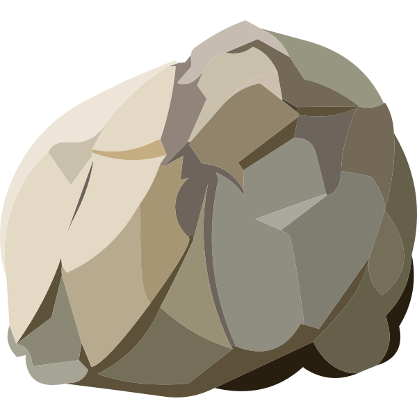 Harvestable rock vector illustration