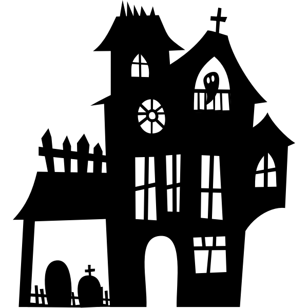 Haunted Mansion Silhouette Free Svg