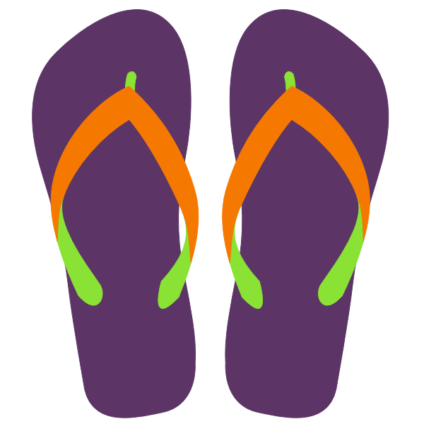 Flipflops vector illustration