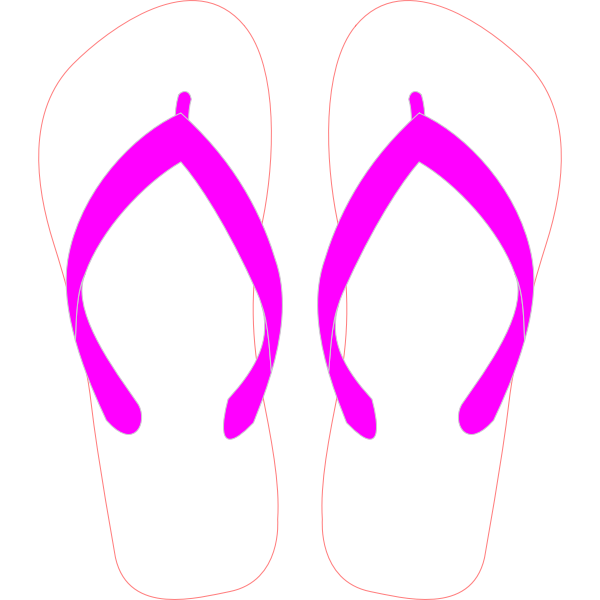 Flipflops with stripe pattern vector image