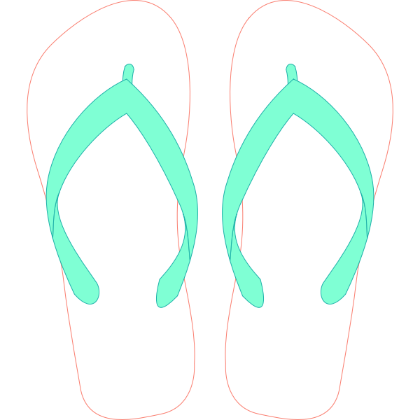 Flipflops with stripe pattern vector clip art