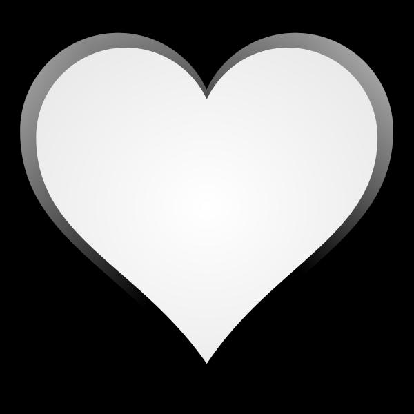 Black and white symmetrical heart shape