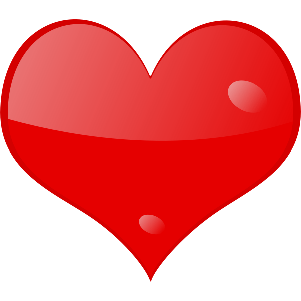 Red shining heart vector image