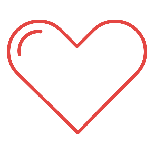 Heart logo red lines