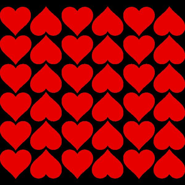 Vector clip art of hearts