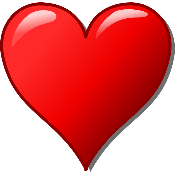 Vector image of glossy heart