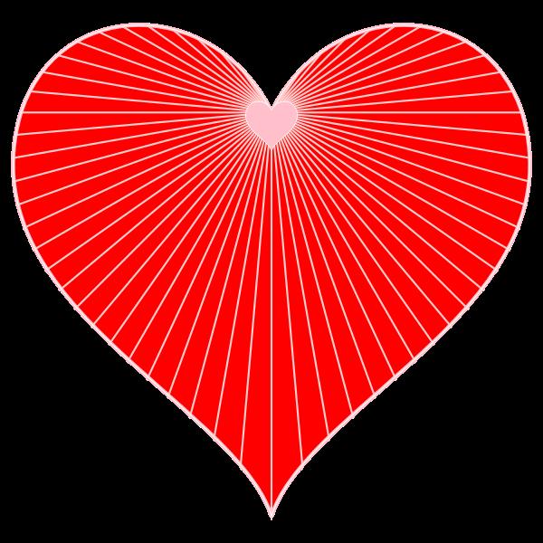 Heart string art vector image