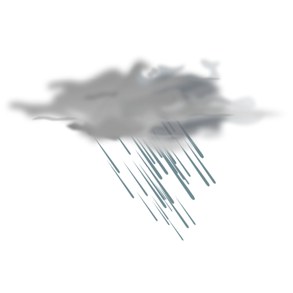 Vector clip art of weather forecast color symbol for heavy showers
