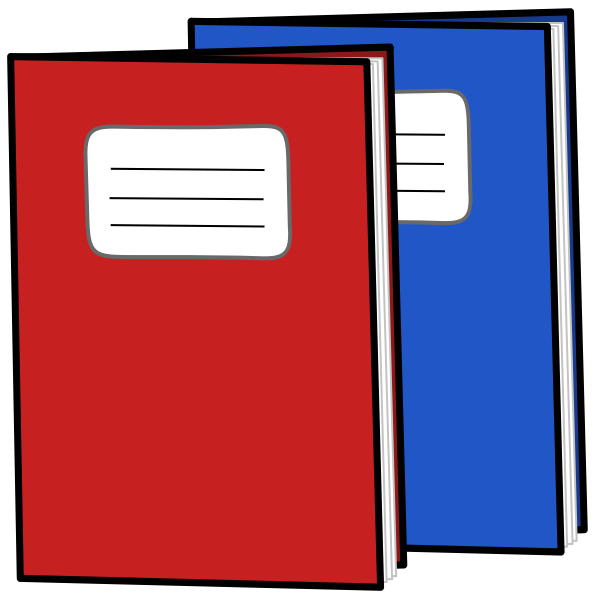 Exercise books vector image
