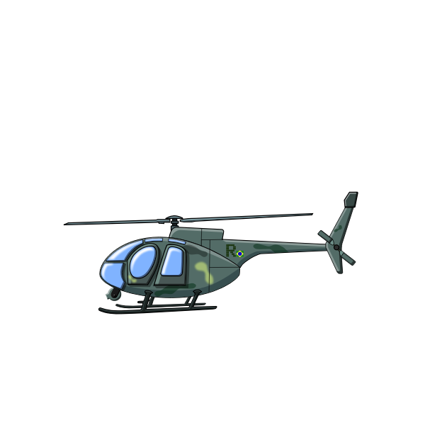 Helicopter in blue sky