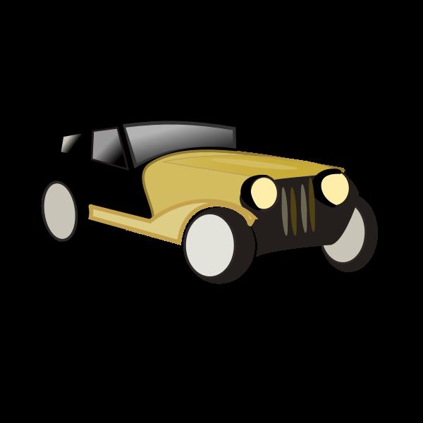 Old car cartoon vector drawing