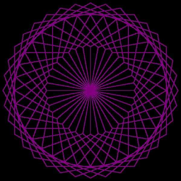 Animated hexagonal design