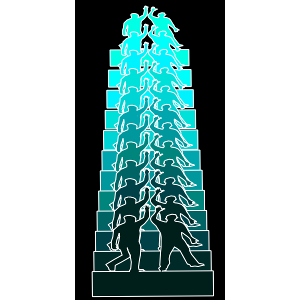 Vector graphics of high five blue remix