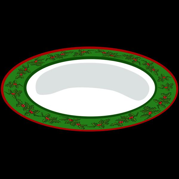 Christmas Plate Vector
