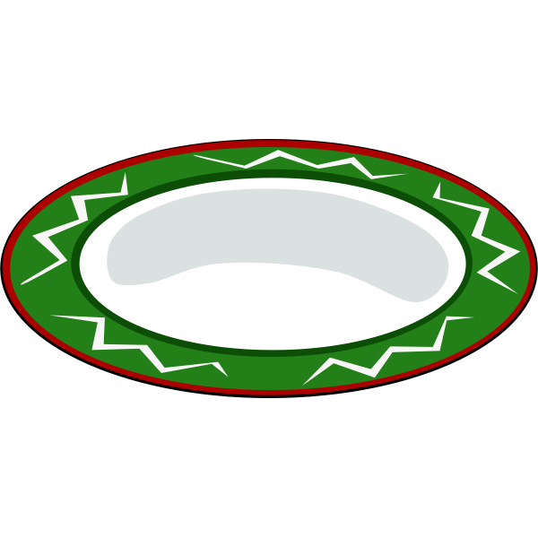 Green plate vector