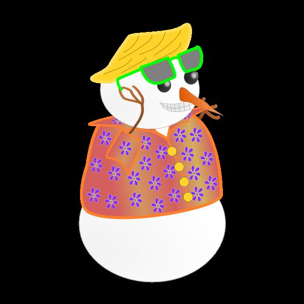 Snowman in Hawaii Vector