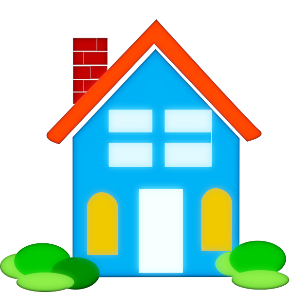 Colorful home vector clip art