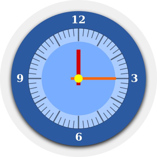 Wall clock vector graphics