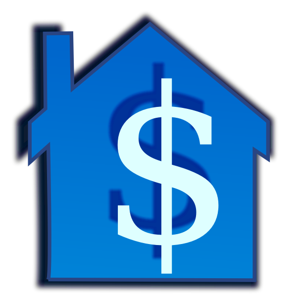 Home price vector graphics