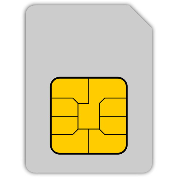 SIM card vector graphics