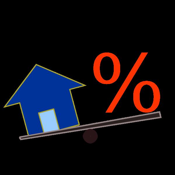 Home loan vector graphics