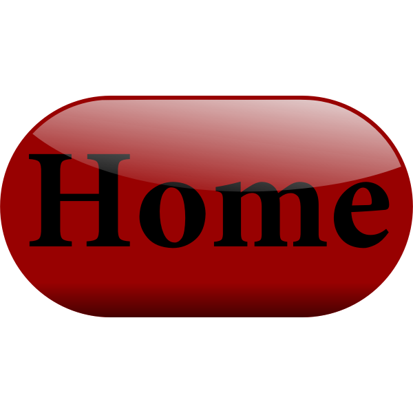 Shiny red home button vector graphics
