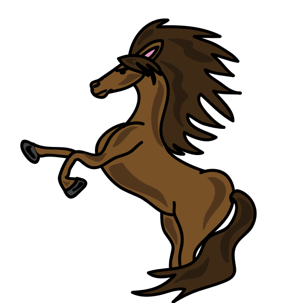horse brown