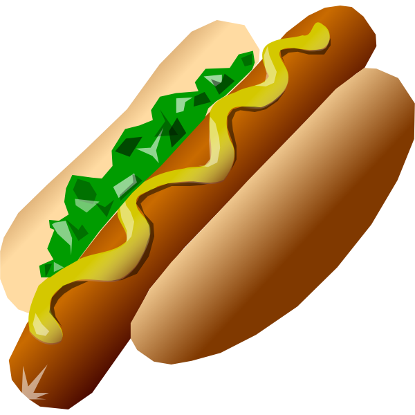 Image of a hot dog served with mustard