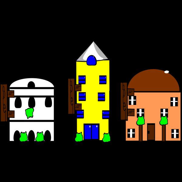 three drawings of hotes