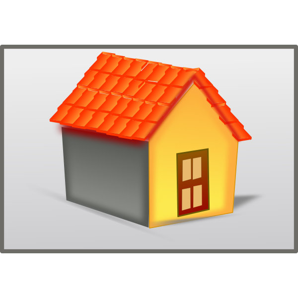 House with tiled roof vector image