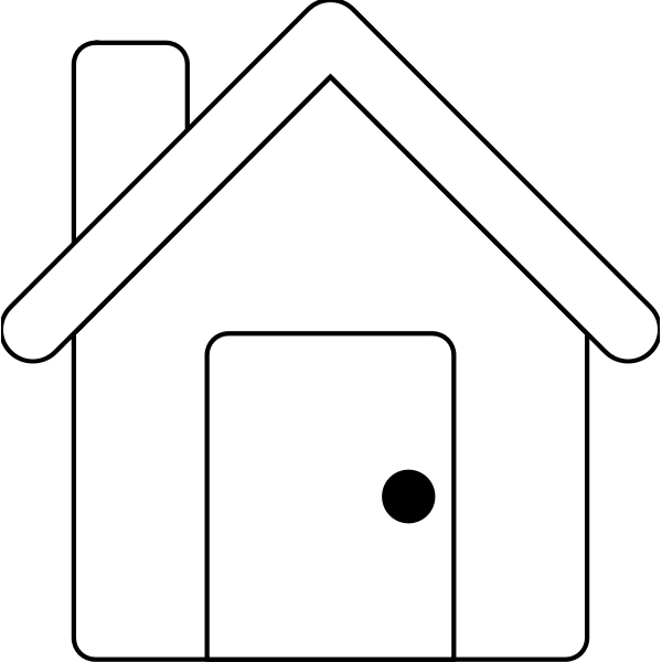 Vector image of simple small house line art