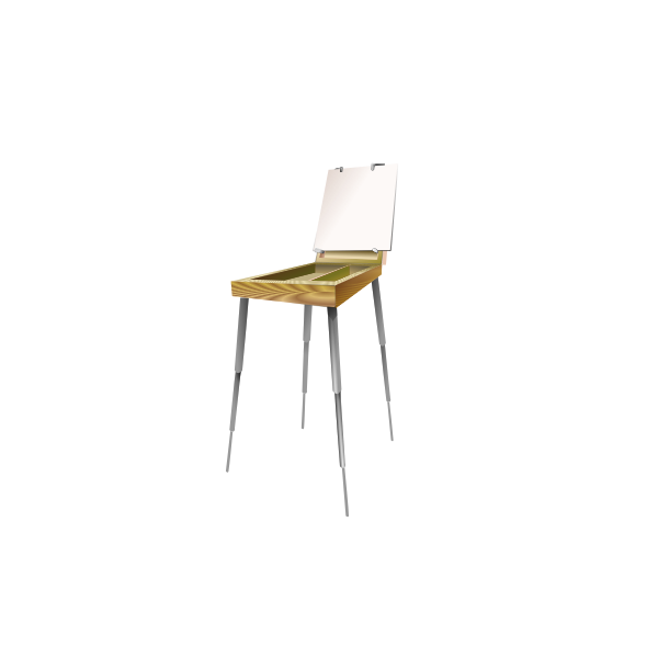 Vector image of painter's box on thin legs