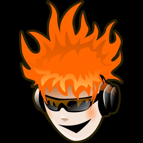 Punker vector image