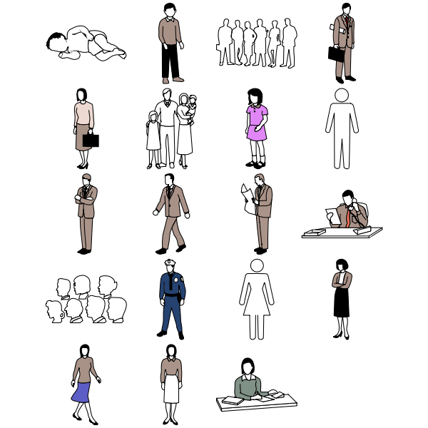 Different people icons