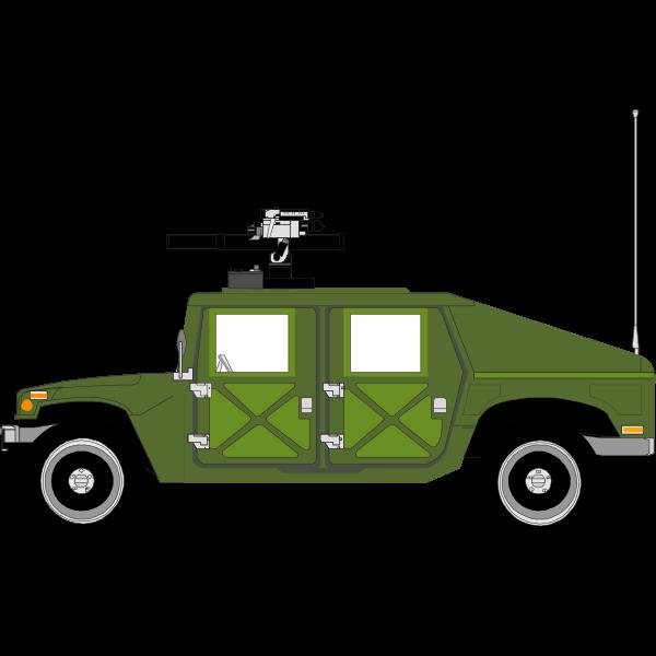White Humvee