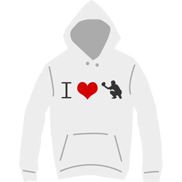 I love baseball hoodie vector illustration