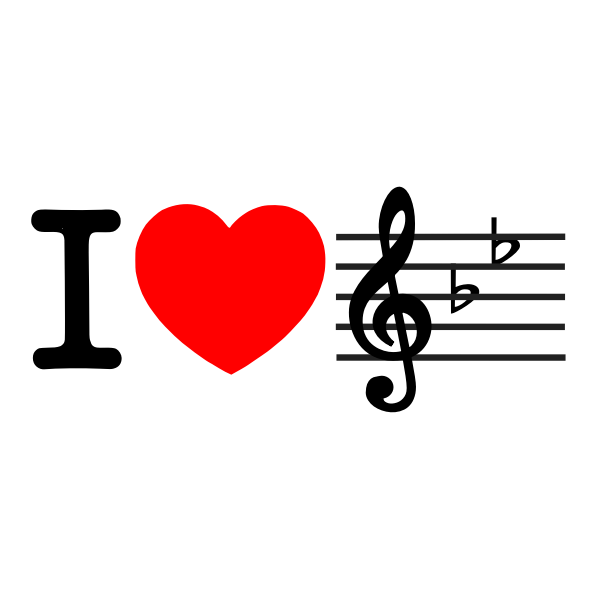 I love music sign vector graphics