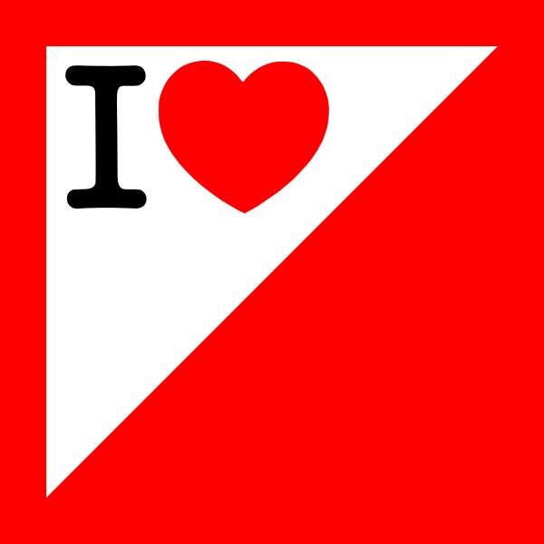 I love orienteering vector image