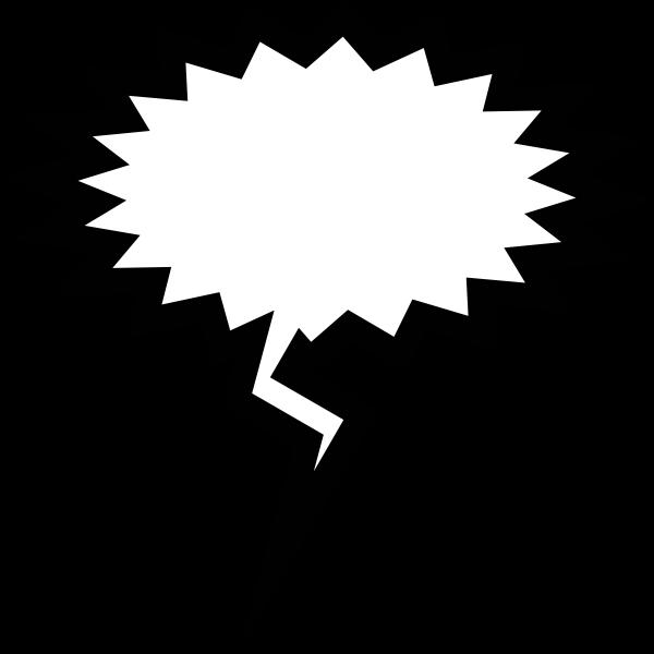 Panic speech bubble vector image
