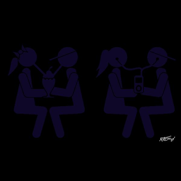 Couple on date vector illustration