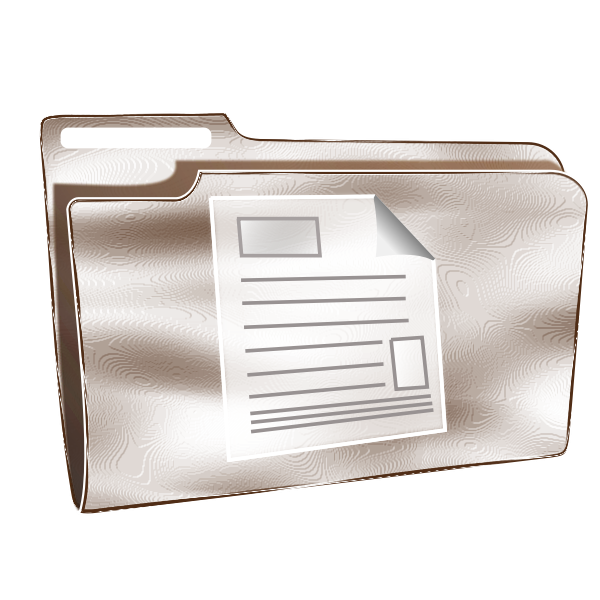 Vector illustration of plastic folder with document icon
