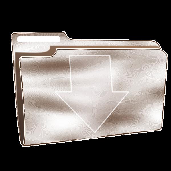 Plastic download folder vector image