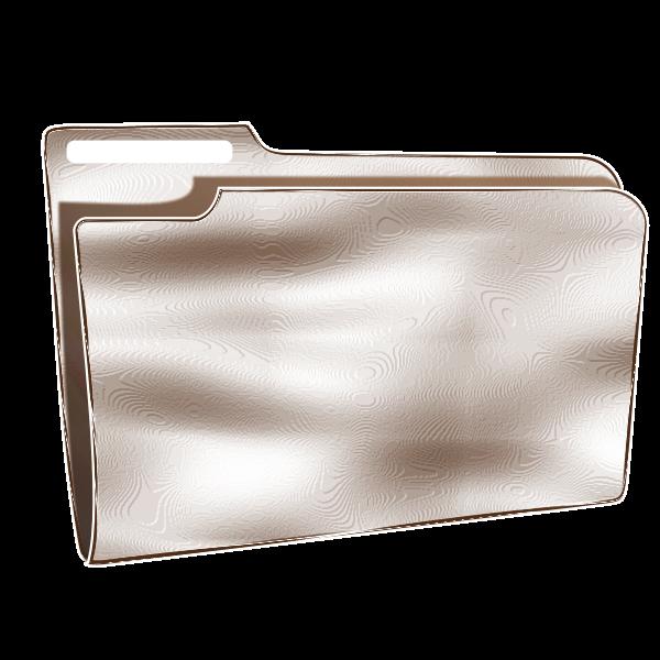Vector graphics of empty plastic folder